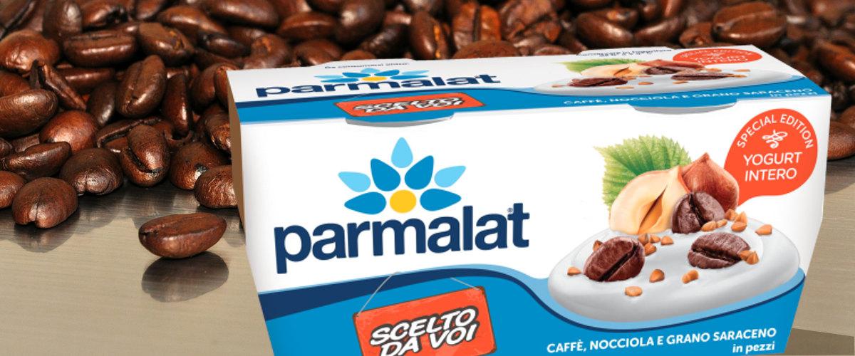 Yogurt Parmalat caffè, nocciola, grano saraceno