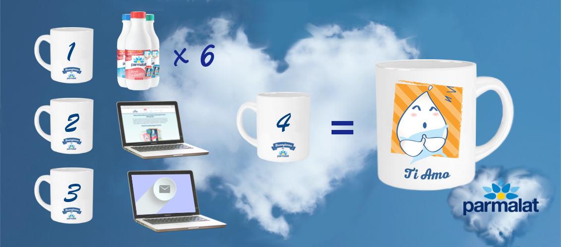 Il latte Parmalat ti regala le tazze personalizzate