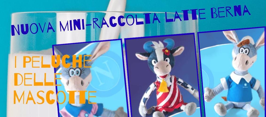Mini-raccolta latte Berna, i peluche delle mascotte del Calcio Napoli